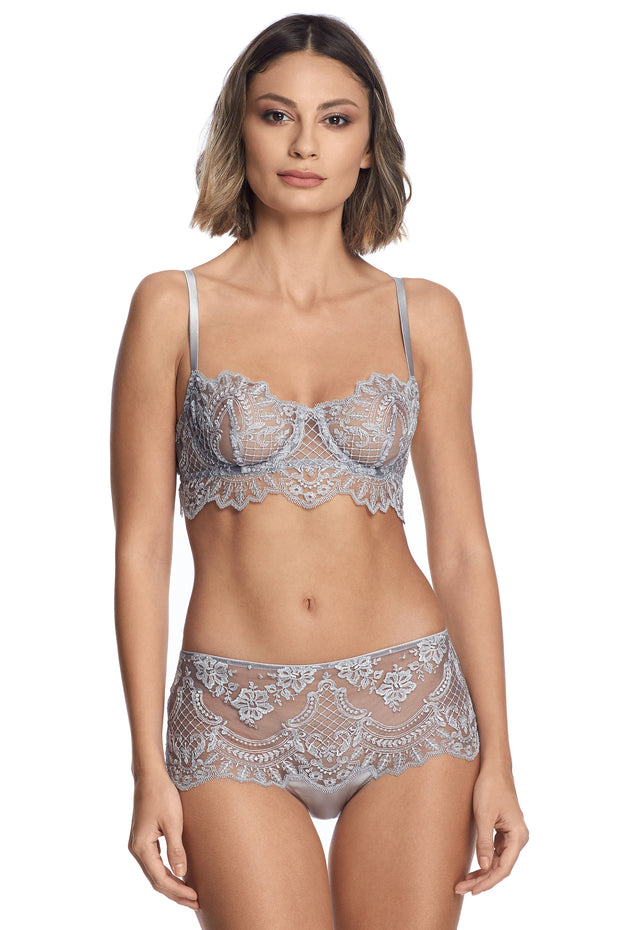 Sarrieri high waist brief in silver