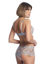 Sarrieri evening goddess high waist brief silver  Edit alt text
