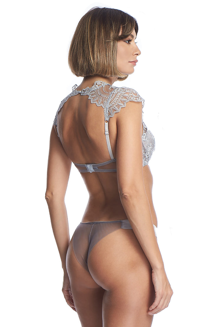 Evening Goddess Thong in French Silver