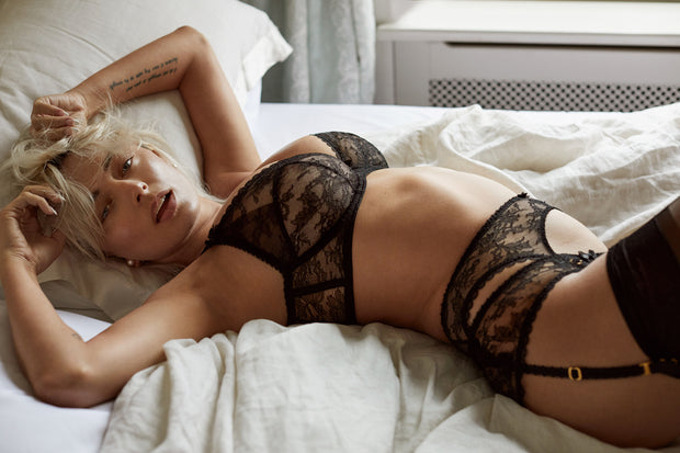 Agent Provocateur Hinda Icons camping with Caroline Vreeland