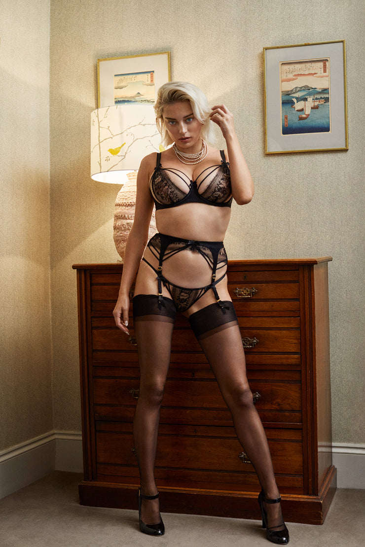Caroline Vreeland for Agent Provocateur wearing Tanya