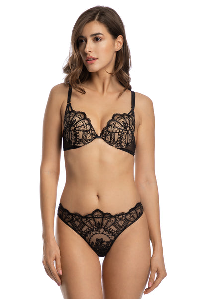 Rose Noir Push Up bra
