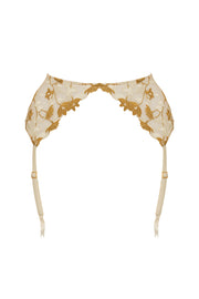 Soraya Harness Suspenders White/Gold