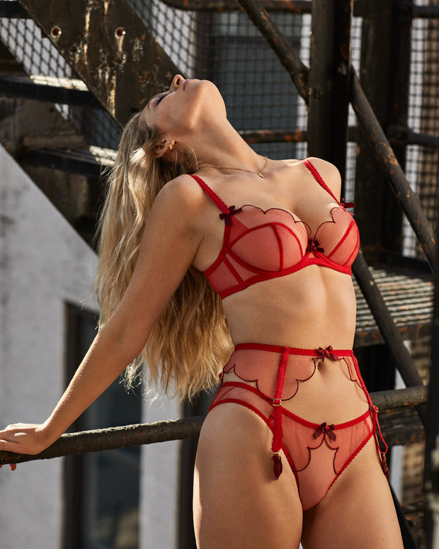 Agent Provocateur Lorna red lingerie set