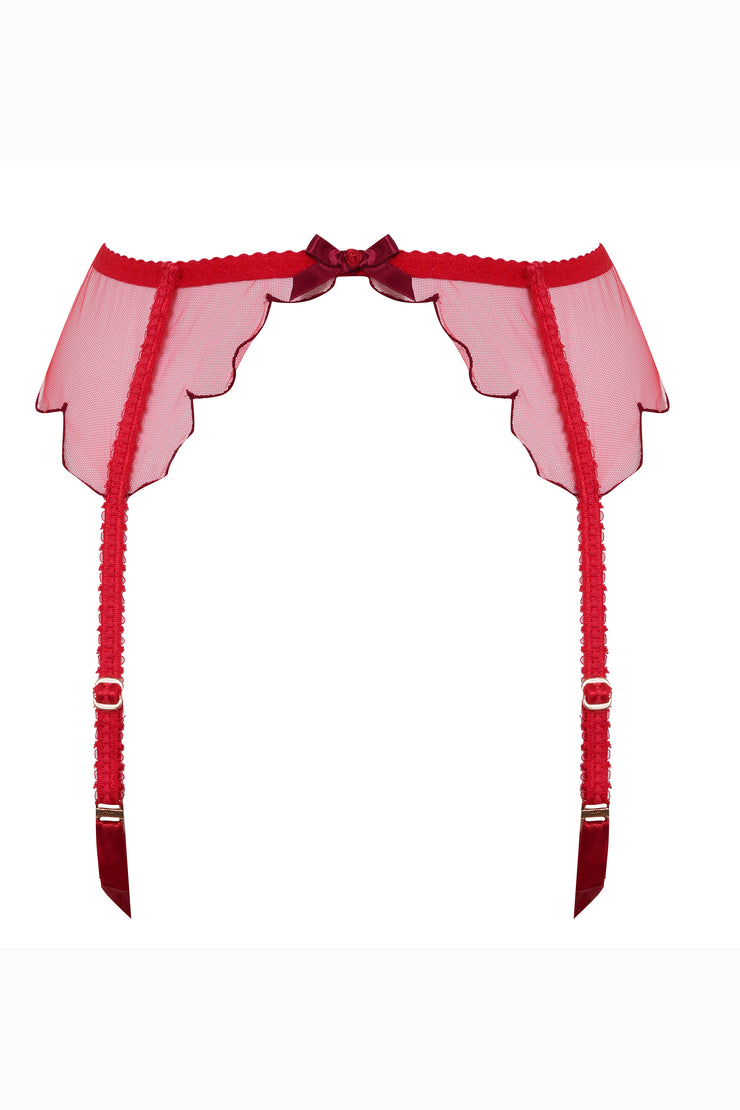 Lorna red suspender