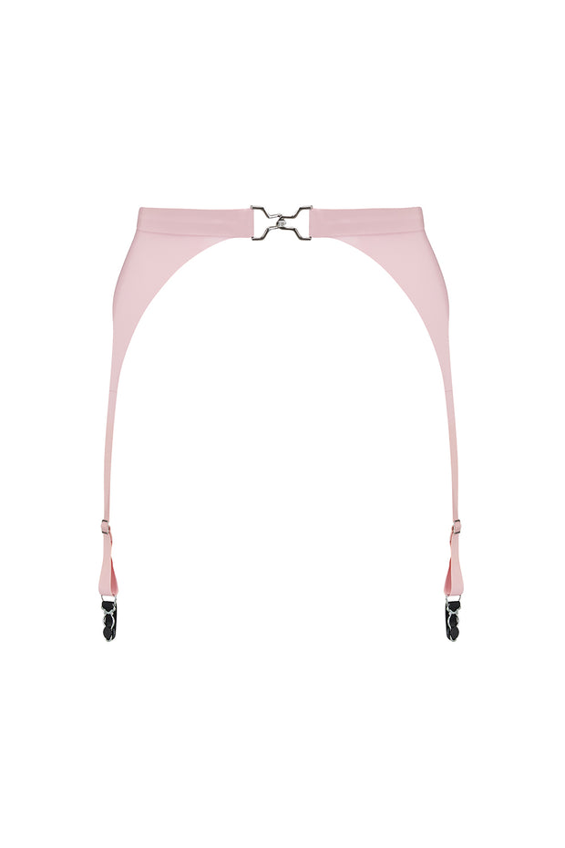 Latex suspender belt pink (multiple color options)