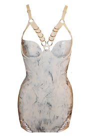 Marble Latex Harness Dress ( in black or white)