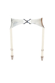 Marble latex suspender (in black or white)
