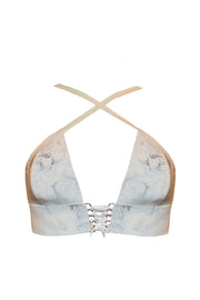 Marble Latex bra (in black or white)