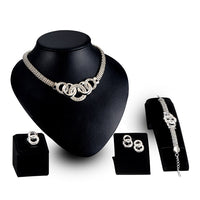New Vintage Jewelry Sets Nigerian Beads Collar Woman Necklace Earrings Bracelet Ring