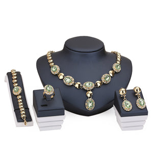 Africa Beads Collares Jewelry Sets For Women Fine Accessories Pendant Necklace Earrings