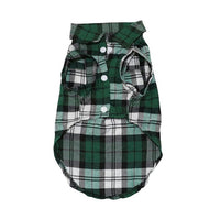 Plaid Dog Clothes Summer Dog Shirts for Small Medium Dogs Pet Clothing