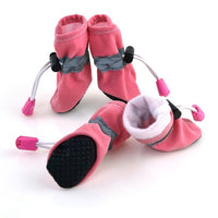 4pcs/set Waterproof Dog Shoes Dog Boots Winter Warm Soft Thick Breathable Pets Supplies