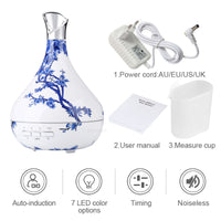 Aroma Oil Diffuser Ultrasonic Air Humidifier purifier with LED Lights for Office Home Bedroom