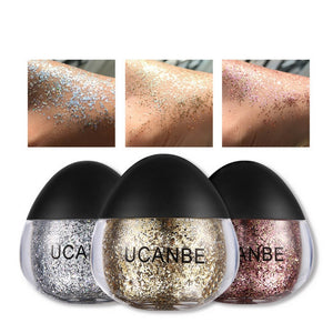 Body Glitter Powder Makeup Shimmer Gold Silver Highlighter Face Eye Hand Hair Cosmetic Pigment