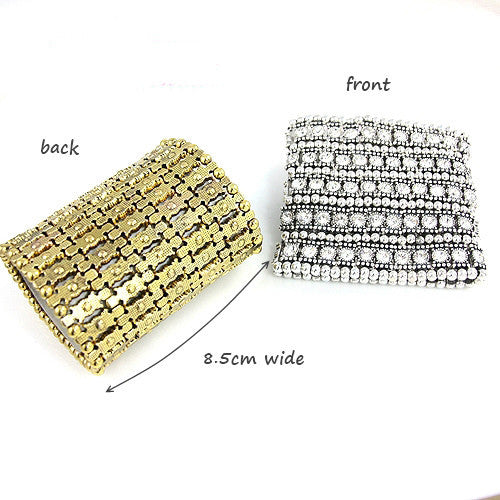 Vintage Style Silver Golden Bohemian Crystal Beads Bracelet High Quality Fashion Women Jewelry