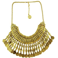 Bohemia Turkish Gold/Silver Necklaces Jewelry Handcraft Coin Fringe Choker Necklace Women