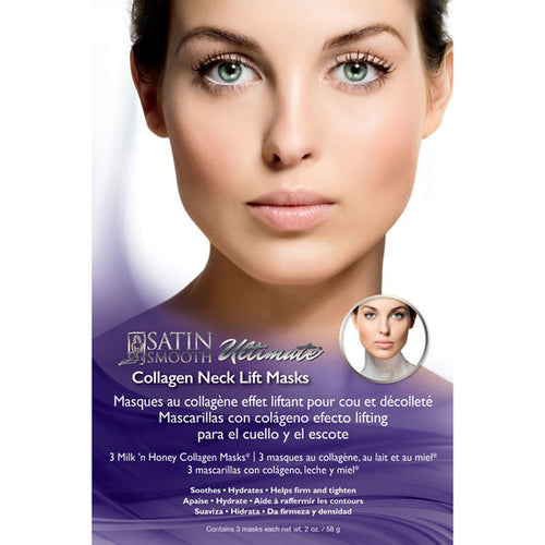 Satin Smooth Collagen Neck Lift Masks