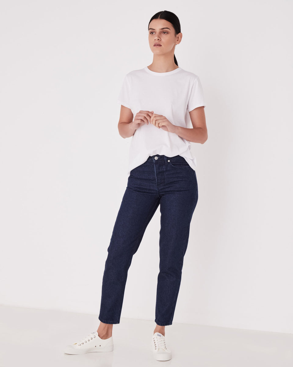 High Waist Rigid Jean Rinse - Saint Street