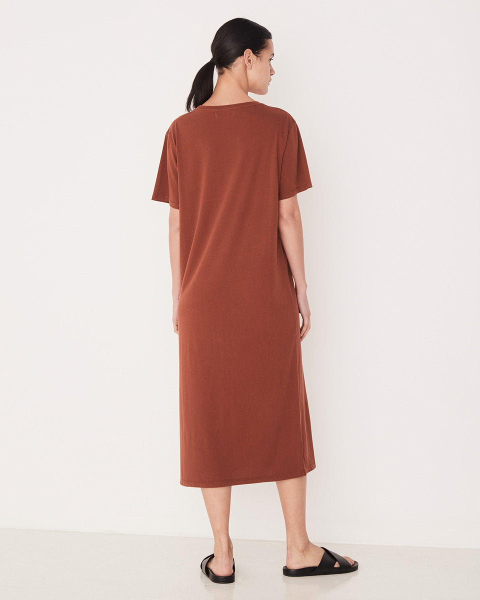 Essential Cotton Tee Dress Terracotta - Saint Street