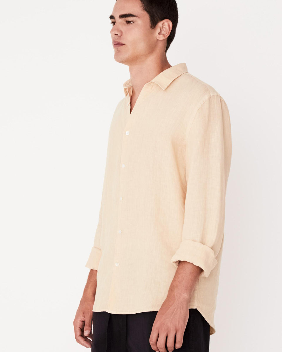 Casual Long Sleeve Shirt Apricot