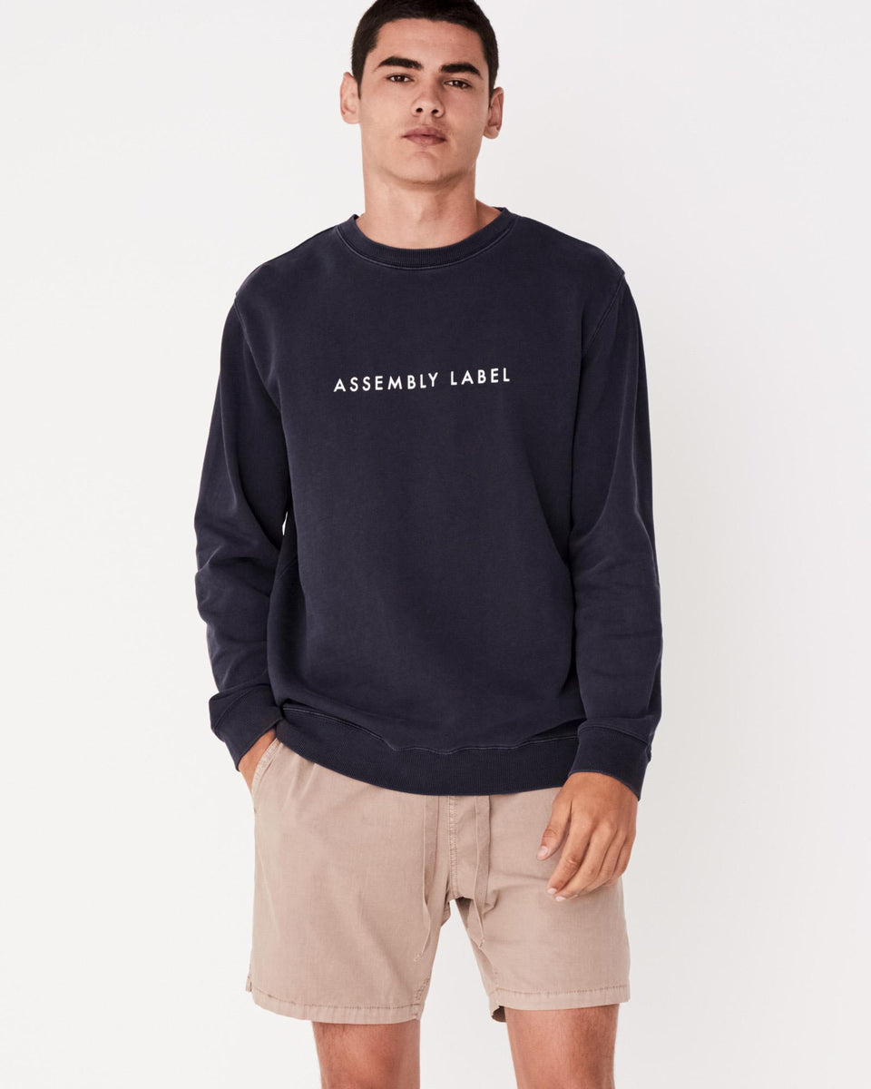 Logo Fleece Worn Navy