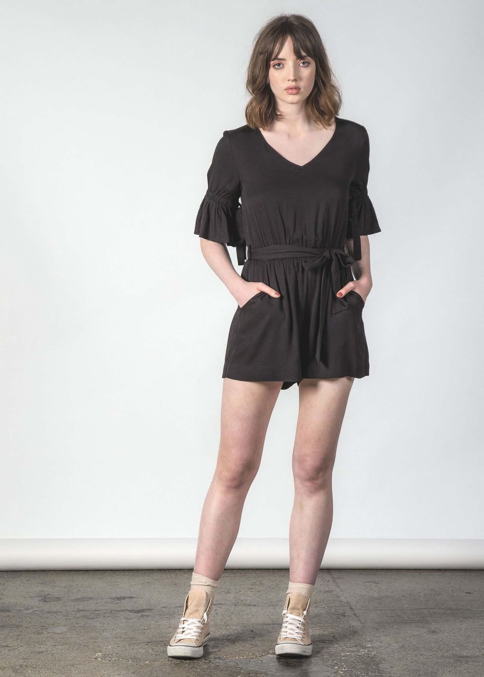 Tresspass Playsuit Black - Saint Street