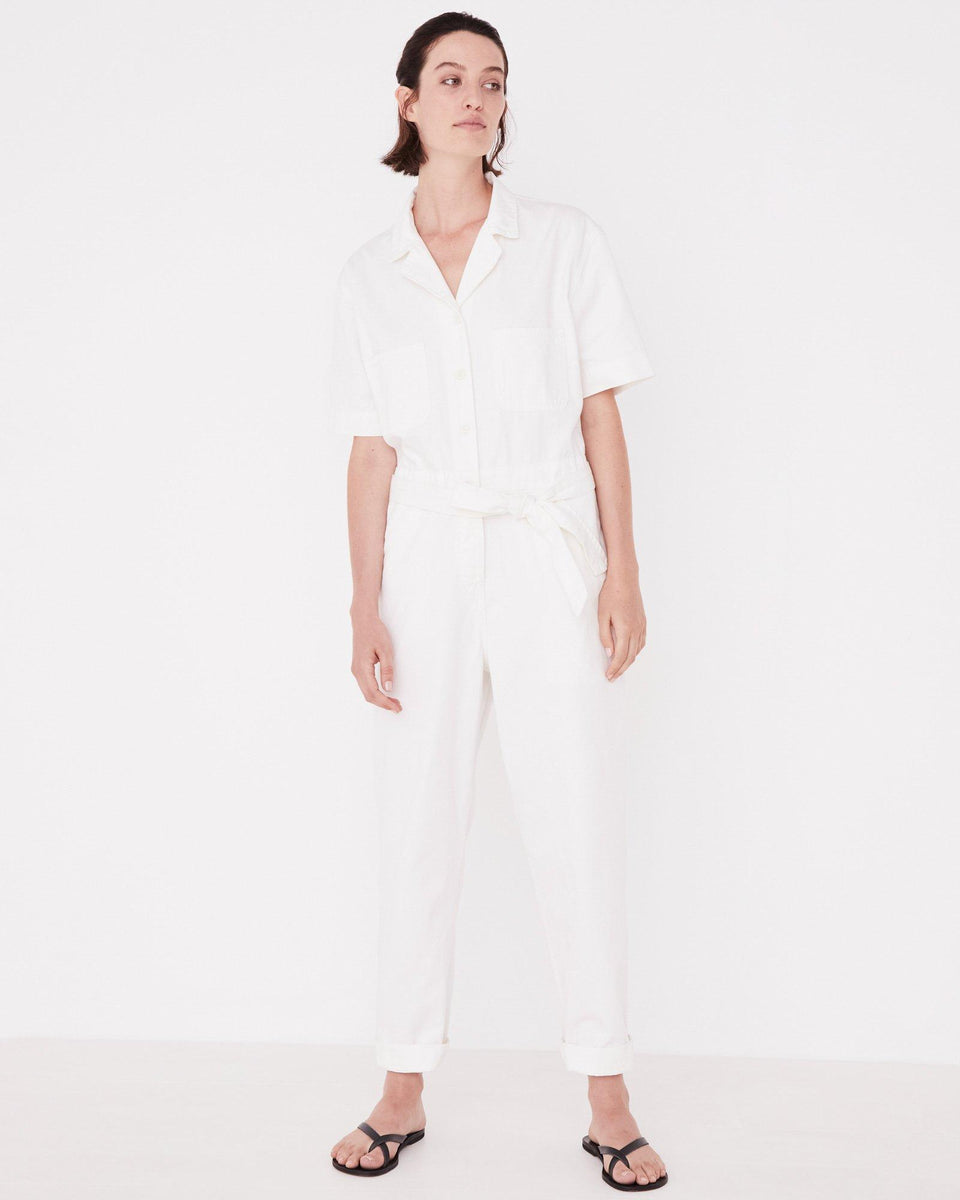 Levy Boilersuit Vintage White - Saint Street