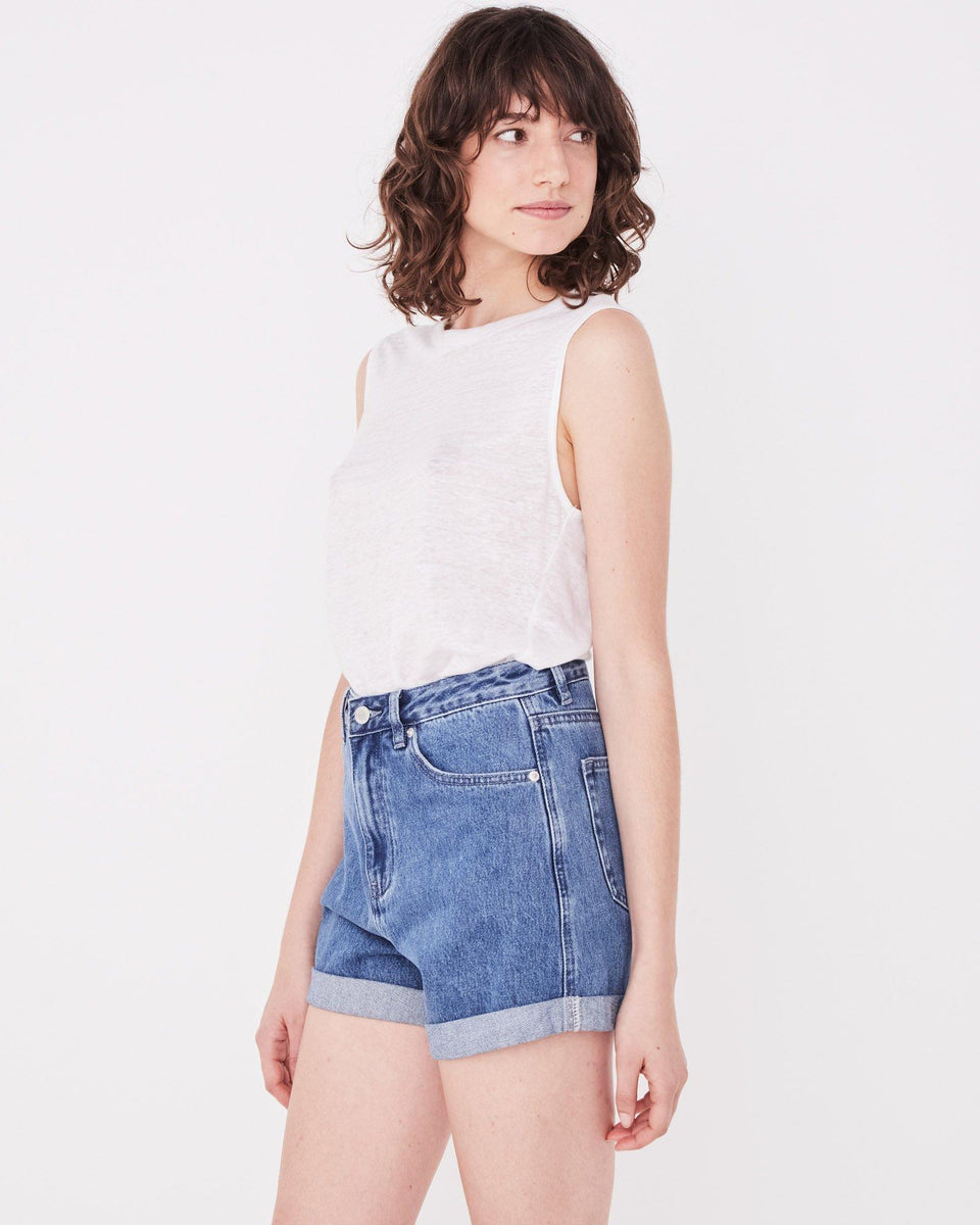 Rolled Hem Short Vintage Blue - Saint Street