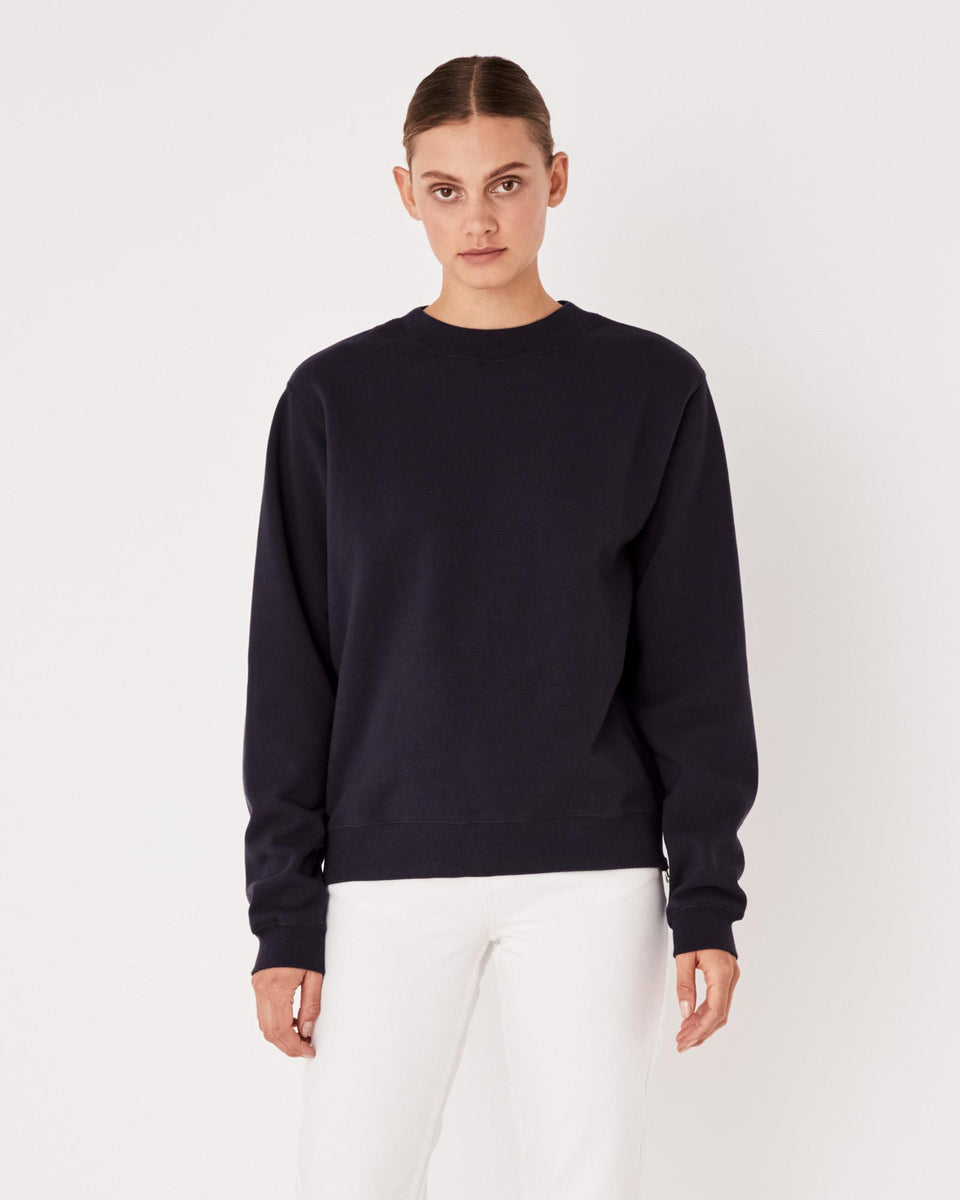 Allusive Fleece Worn Navy - Saint Street