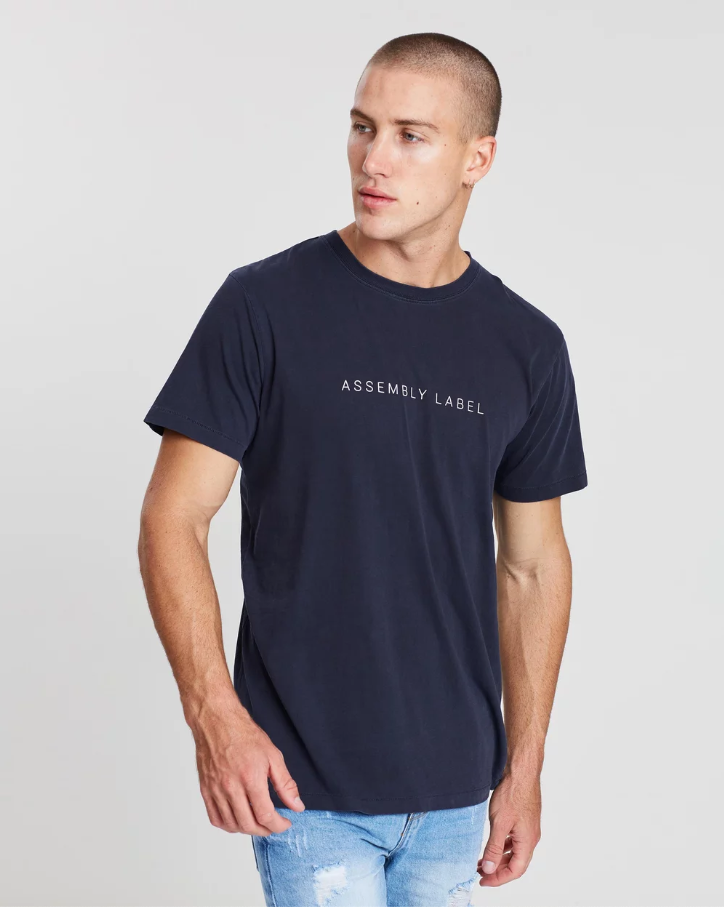 Finery Tee Worn Navy
