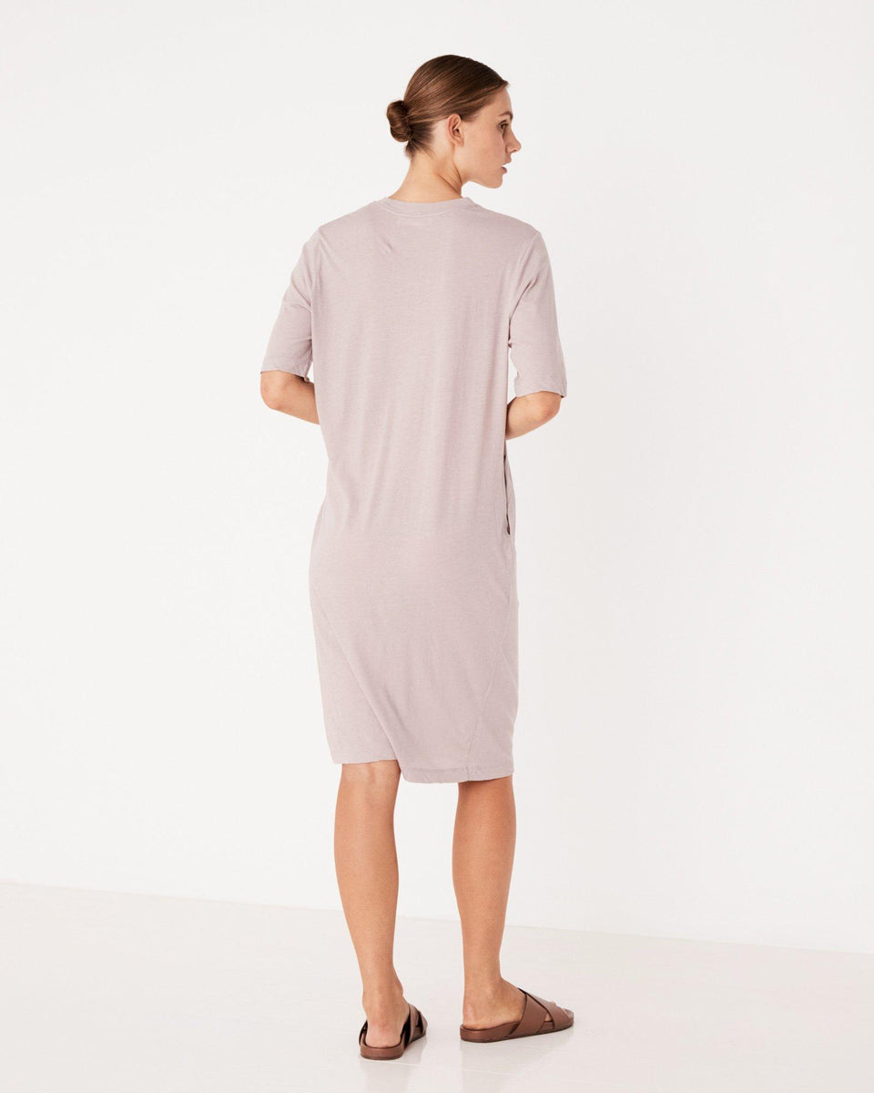 Lightweight Cotton Tee Dress Fawn - Saint Street