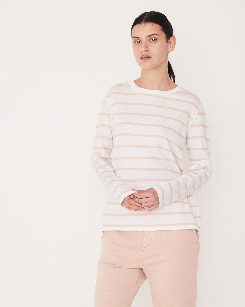 Bay Long Sleeve Tee Rosewater Stripe