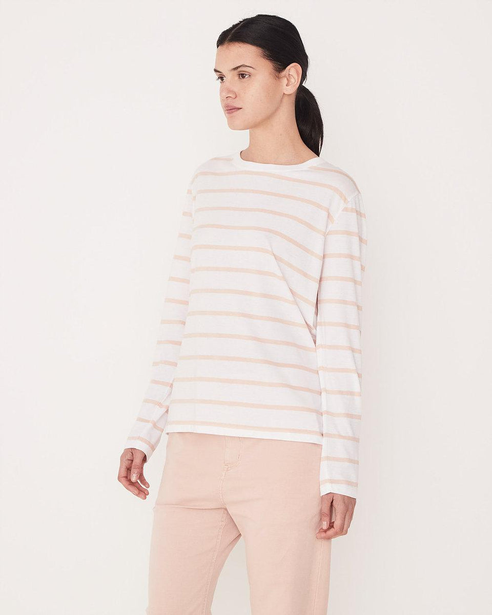 Bay Long Sleeve Tee Rosewater Stripe - Saint Street