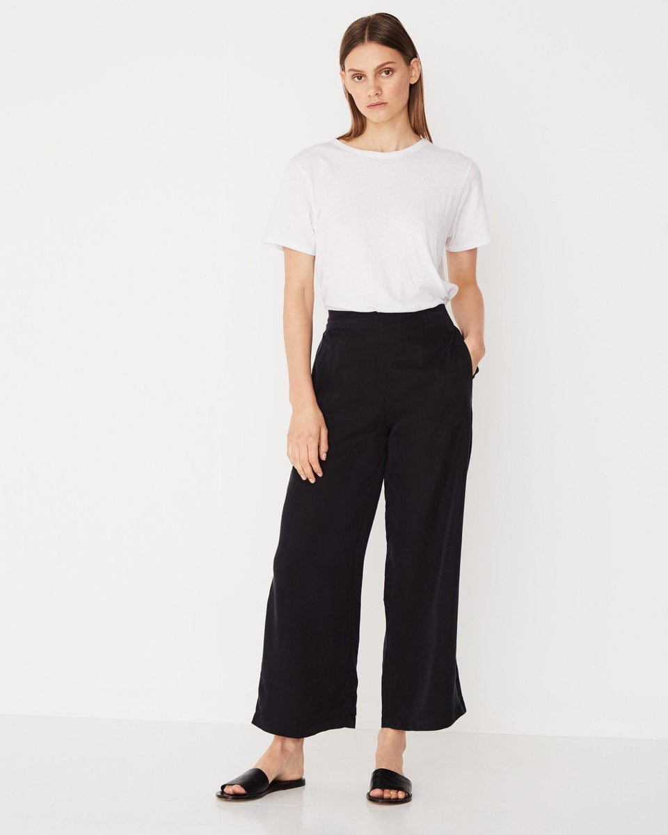 Bellevue Wide Leg Pant Black - Saint Street