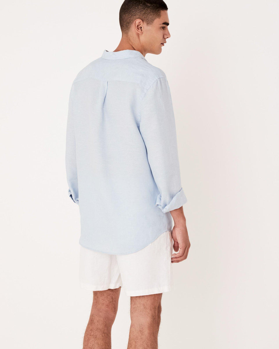 Casual Long Sleeve Shirt Washed Blue - Saint Street