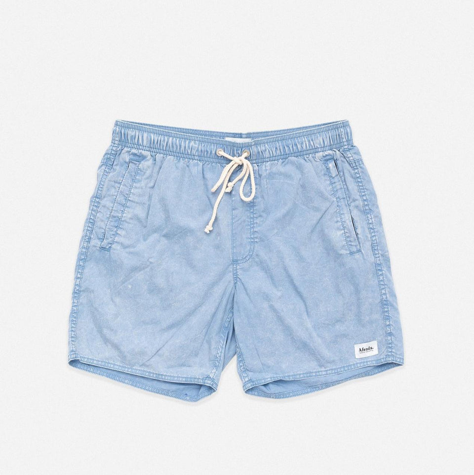 "Baywatch Boardshort 16"" Blue Acid Wash - Saint Street"