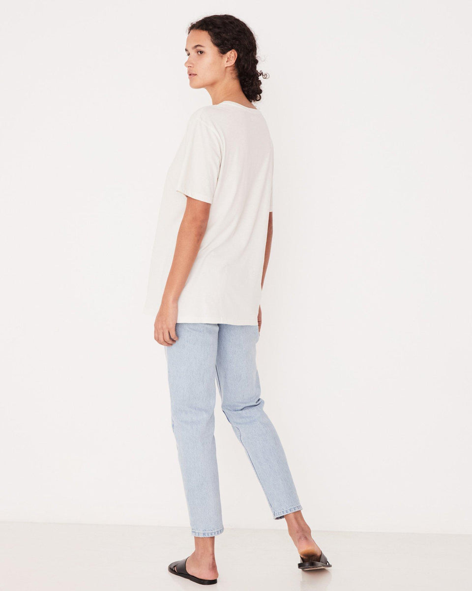 Essential Cotton Crew Tee White - Saint Street