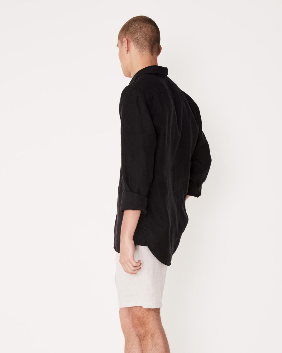 Casual Long Sleeve Shirt Black - Saint Street