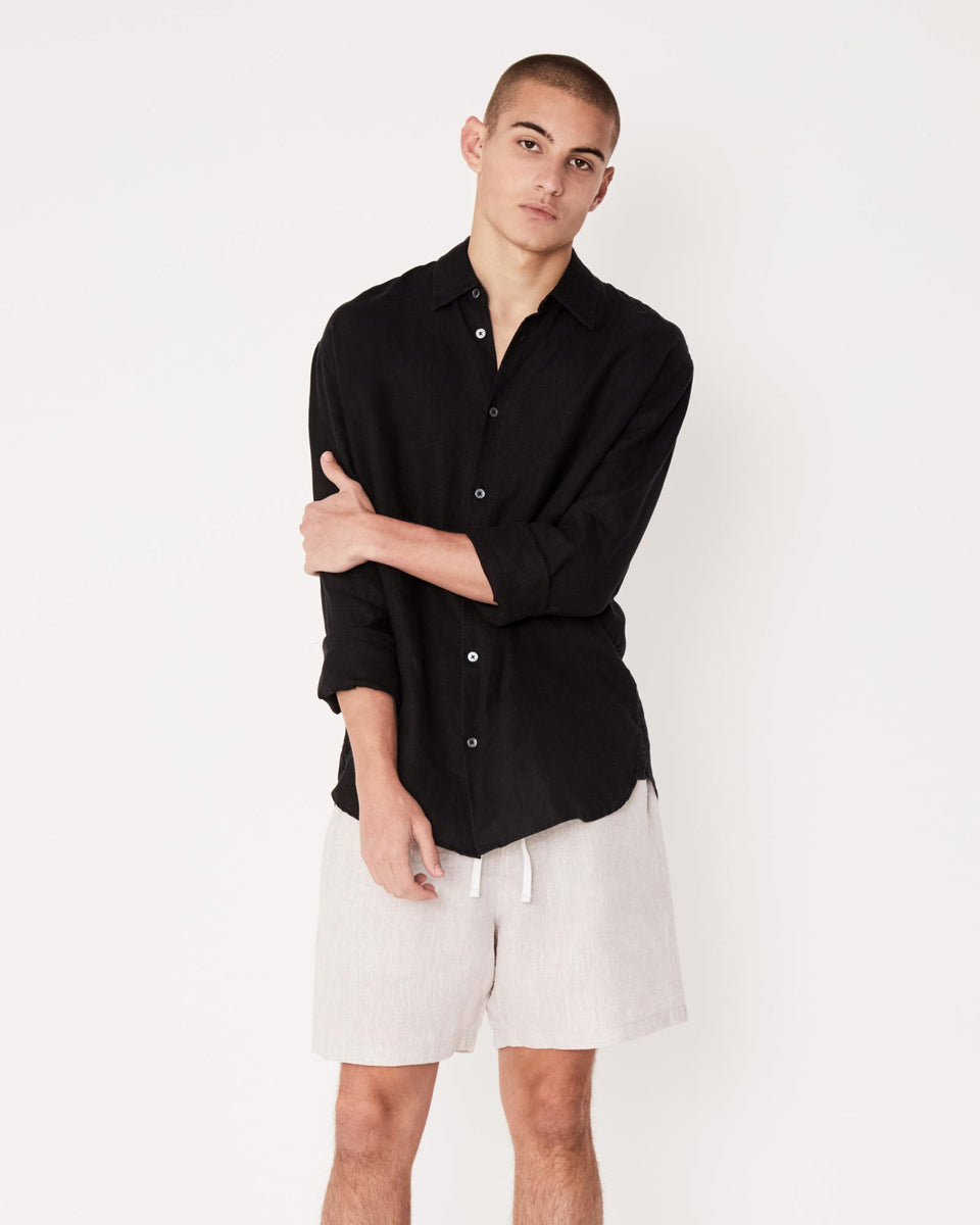 Casual Long Sleeve Shirt Black