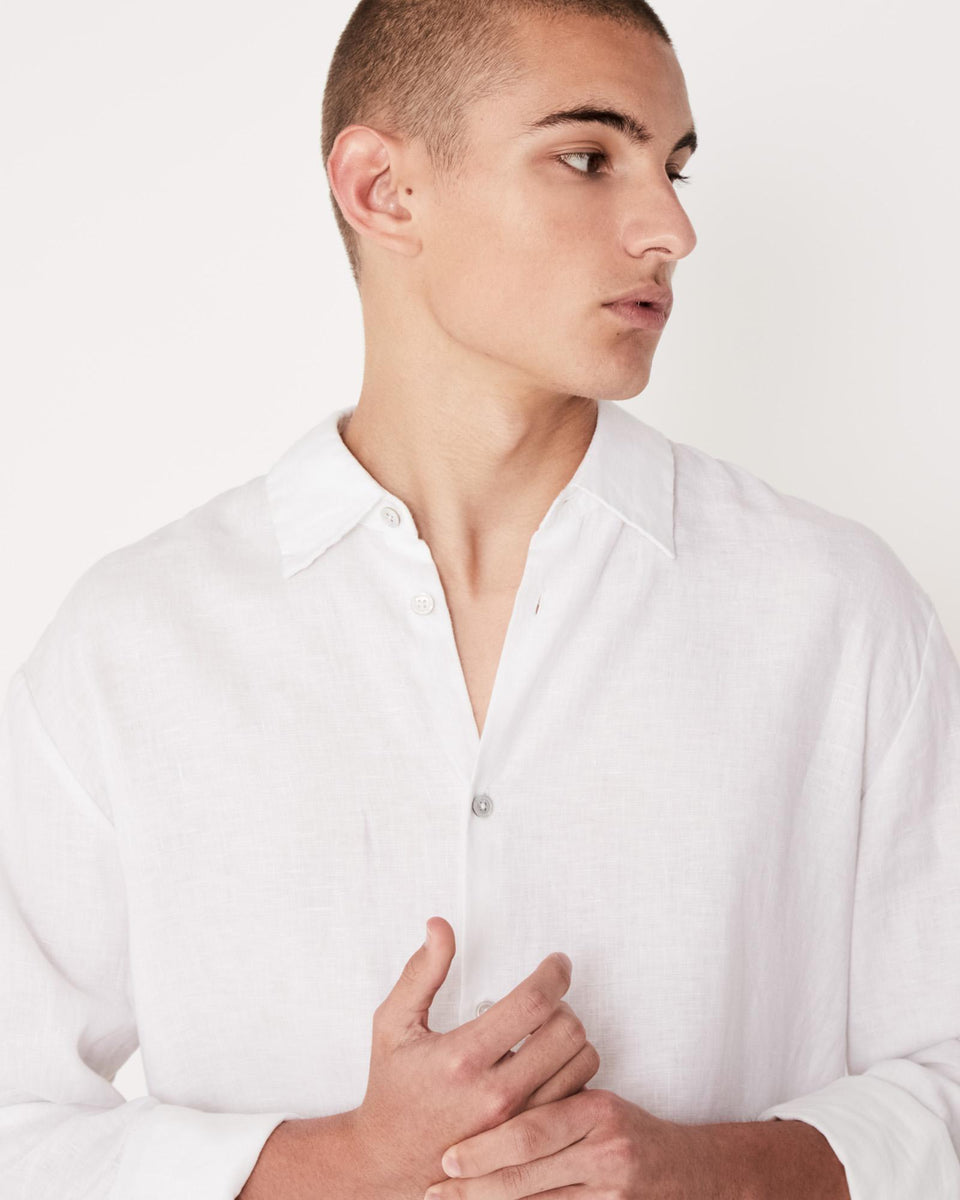 Casual Long Sleeve Shirt White - Saint Street