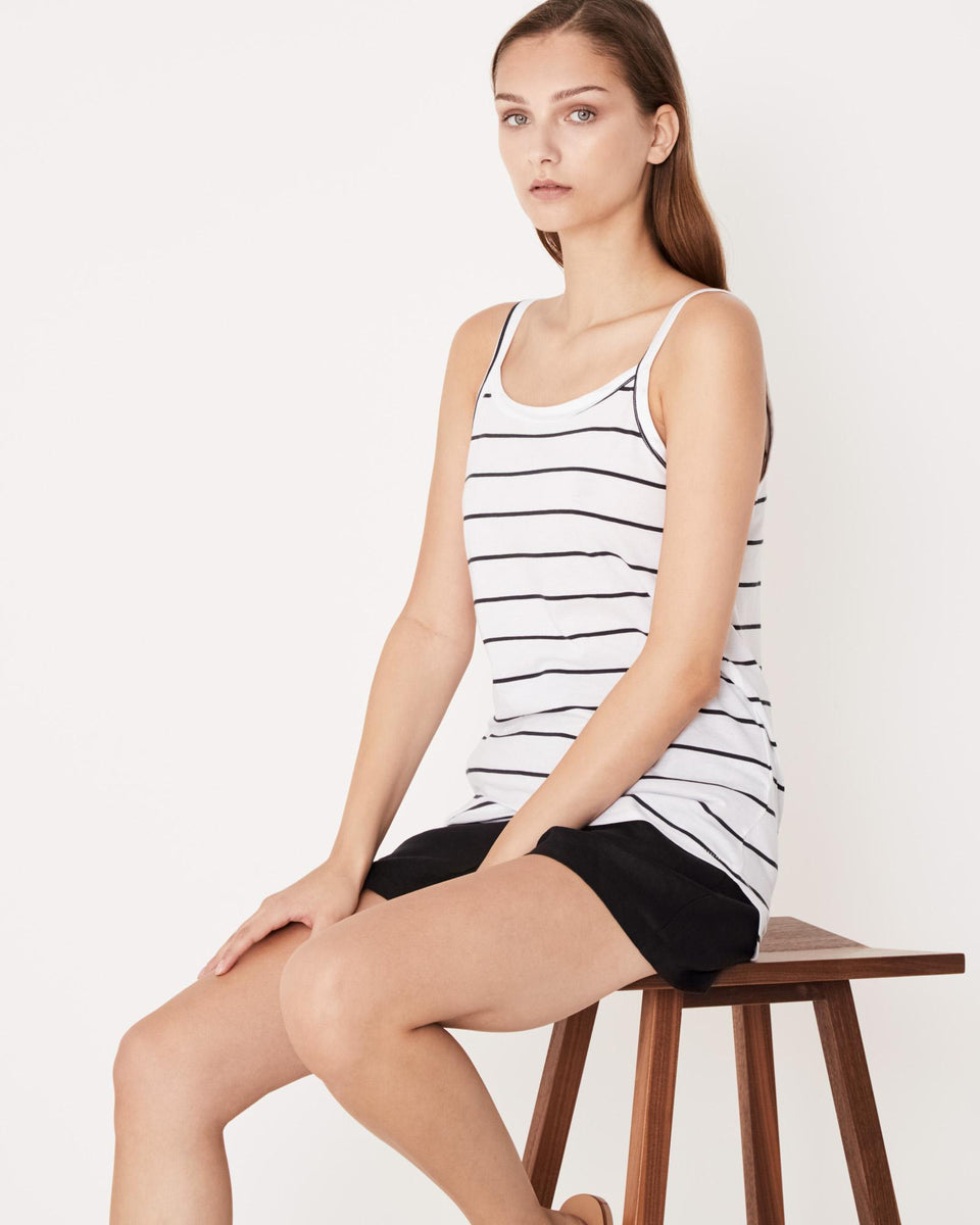 Daily Singlet Worn Navy Stripe - Saint Street