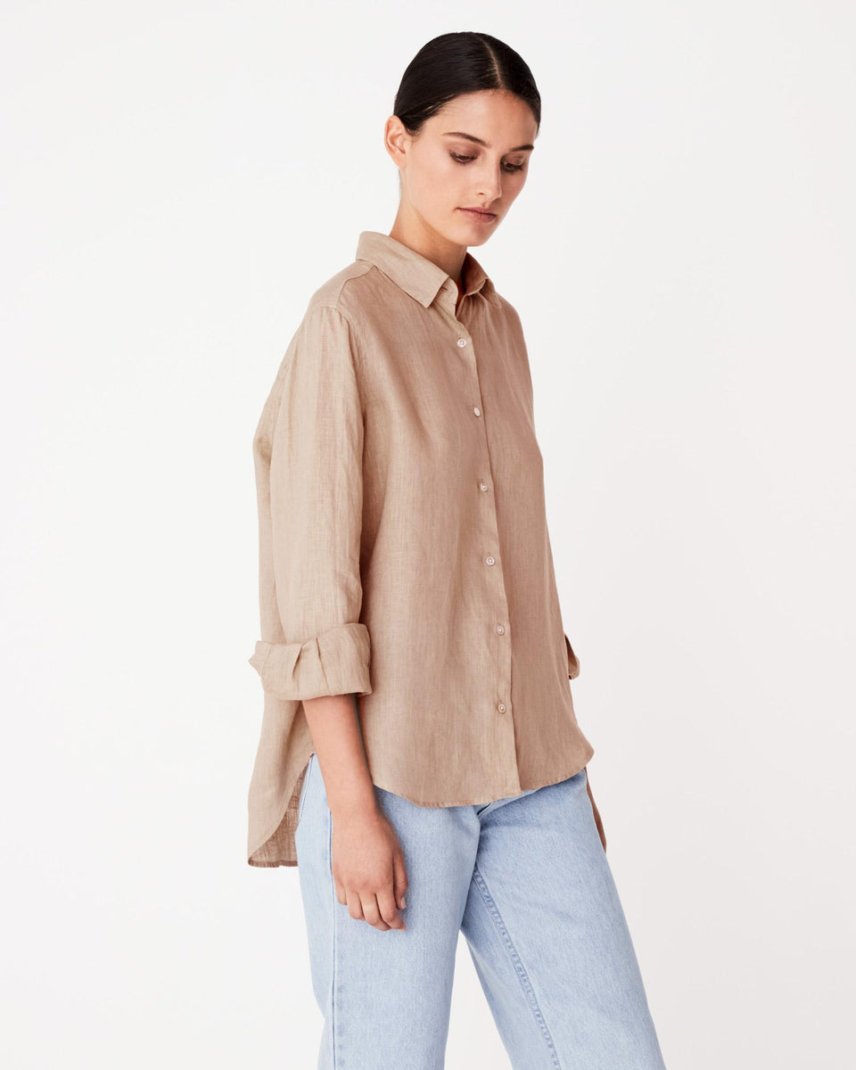 Xander Long Sleeve Shirt Dune - Saint Street