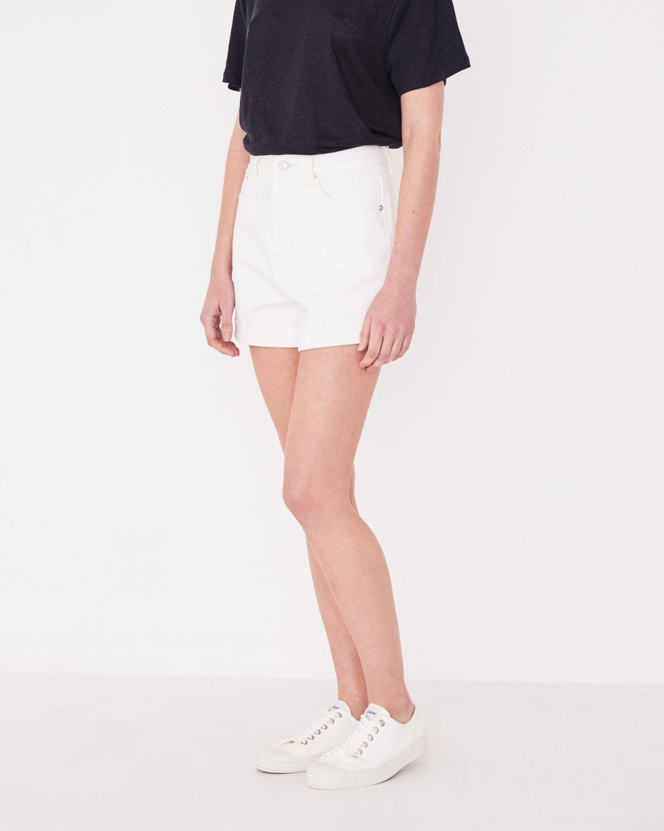 Rolled Hem Shorts Vintage White - Saint Street