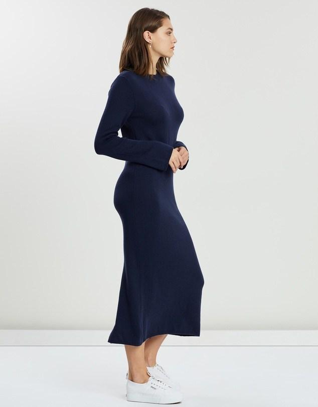 Knitted Dress True Navy - Saint Street