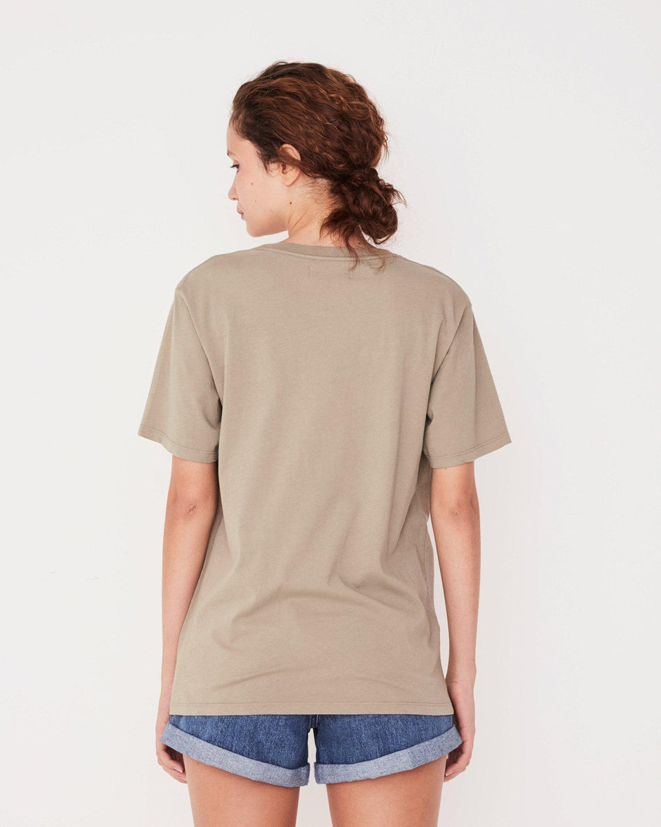 Logo Cotton Crew Tee Womens Seagrass - Saint Street