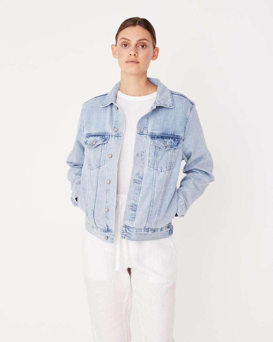 Maicy Denim Jacket Pacific Blue - Saint Street