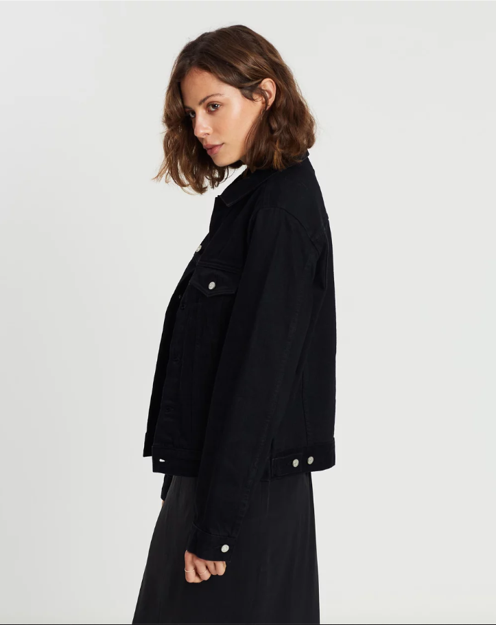 Maicy Denim Jacket True Black - Saint Street
