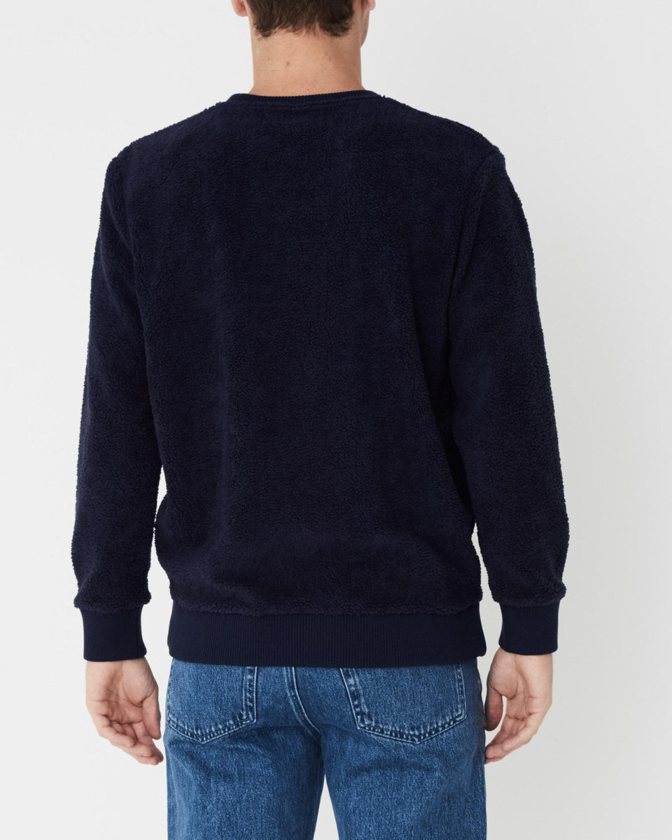 Polar Fleece Pullover True Navy - Saint Street