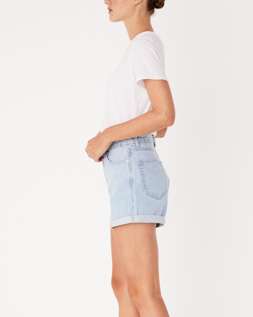 Rolled Hem Shorts Pacific Blue - Saint Street